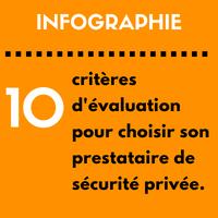 Prestataire de sécurité : 10 critères d'évaluation incontournables