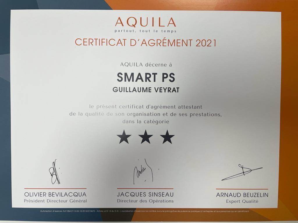 Renouvellement de la certification Aquila pour Smart PS